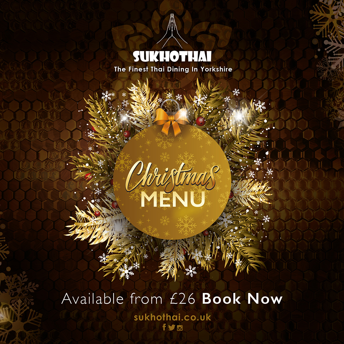 Christmas Menu.2018 Christmas Menu Revealed Sukhothai